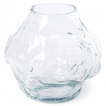 Hkliving Hk Objects: Cloud Vaas Clear Glass Low