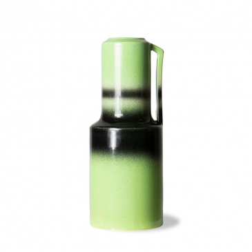 Hkliving The Emeralds: Ceramic Vaas Groen With Handle