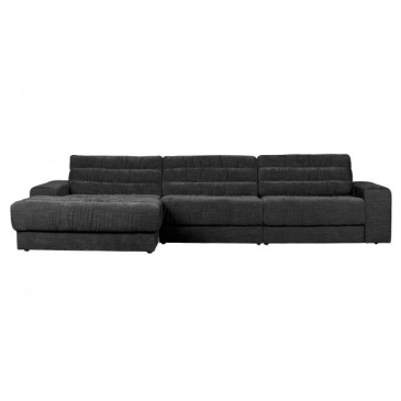 BePure Date Chaise Longue Links Vintage Antraciet