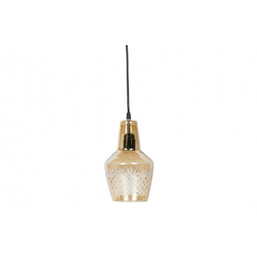 BePure Engrave Hanglamp Glas Small Antique Brass