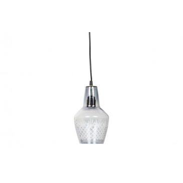 BePureHome Engrave Hanglamp Glas Small Grijs