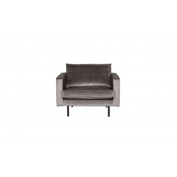 BePureHome Fauteuil Rodeo Velvet Taupe