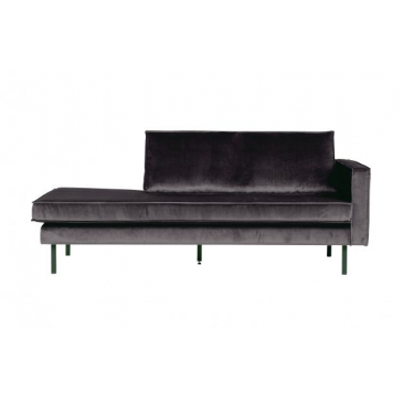 BePure Rodeo Daybed Right Velvet Antraciet