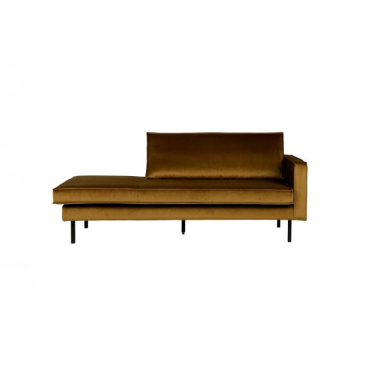 BePure Rodeo Daybed Right Velvet Honing Geel