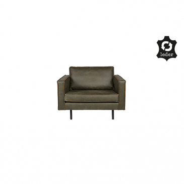 BePure Rodeo Fauteuil Army Leer
