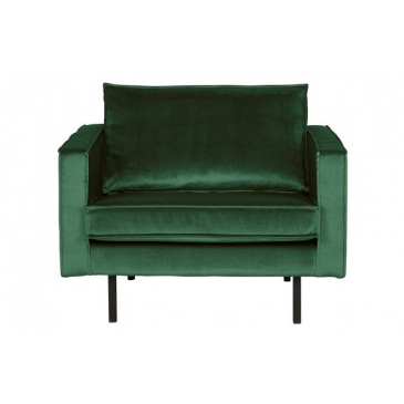 BePure Rodeo Fauteuil Velvet Green Forest