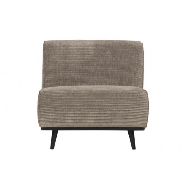 BePure Statement Fauteuil Brede Platte Rib Clay