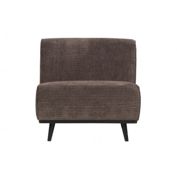 BePure Statement Fauteuil Brede Platte Rib Taupe