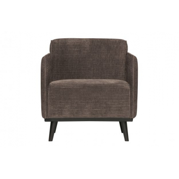 BePure Statement Fauteuil Met Arm Brede Platte Rib Taupe