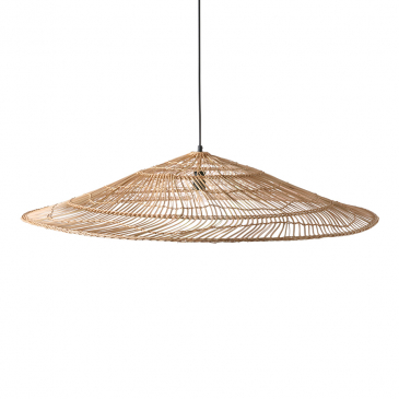 HKliving Hanglamp Wicker Triangle Natural XL
