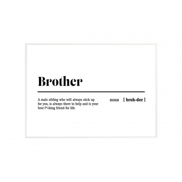 KMCT Collection Wissellijst Wit + Buitenposter Brother