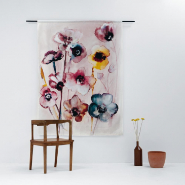 Urban Cotton Wandkleed 'Flowers in Soft Hues' L