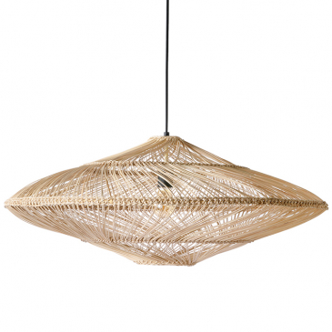 Wicker Hanging Lamp Oval Natural