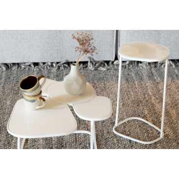 Zuiver Side Table Moondrop Single White