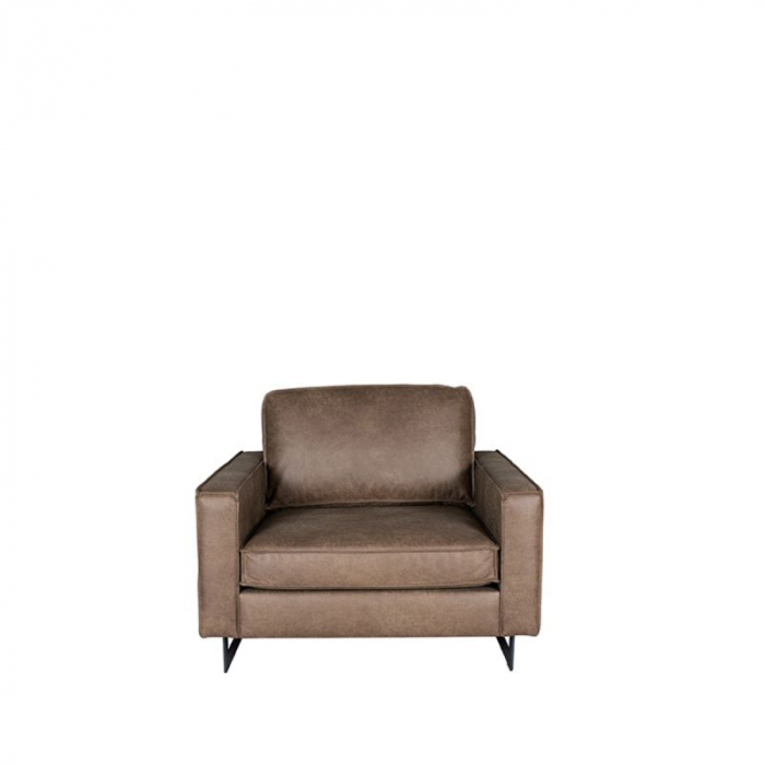 Label51 Fauteuil Arezzo Leer Taupe>