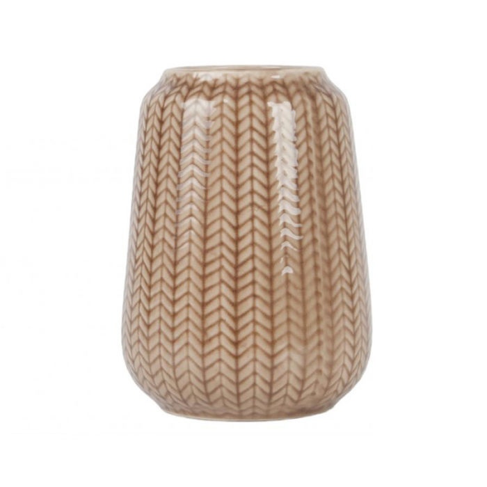 Present Time Vaas Knitted Caramel Brown Large>