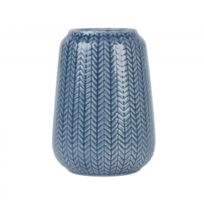 Present Time Vaas Knitted Donkerblauw Large>