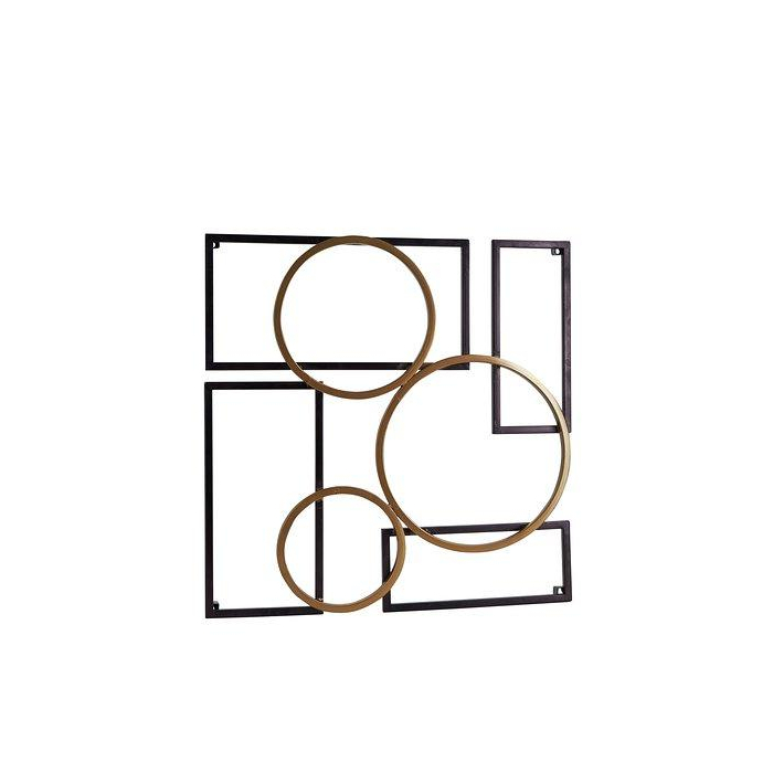 Wall Deco Golden Rings>