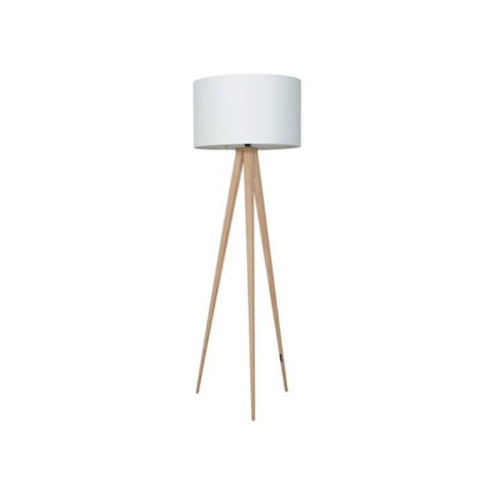 Zuiver Vloerlamp Tripod Wit Hout>