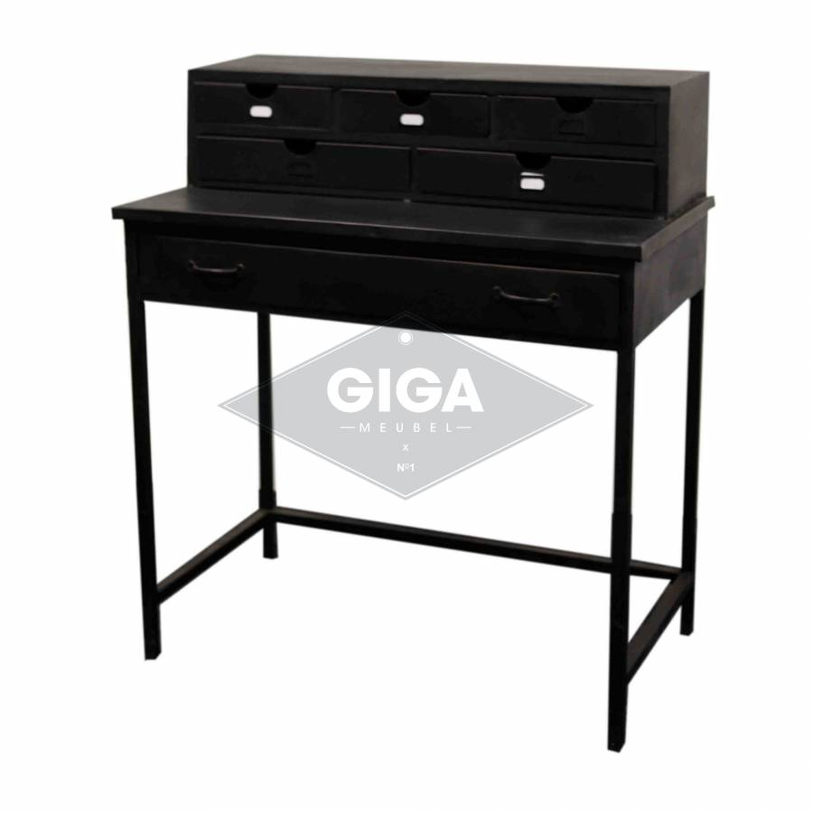 bureau secretaire industrieel. Black Bedroom Furniture Sets. Home Design Ideas