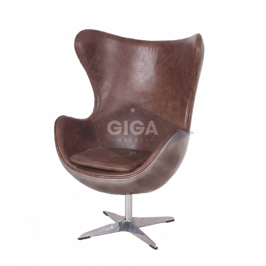 betaalbare luxe leren egg chair nu bij giga meubel. Black Bedroom Furniture Sets. Home Design Ideas