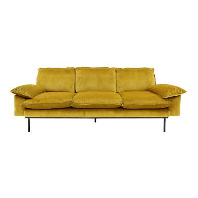 HKliving retro sofa 3-zits oker