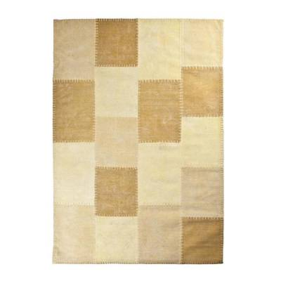 By-Boo Vloerkleed Patchwork Mono Yellow 160x230