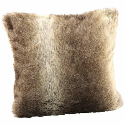 PTMD Kussen Fake Fur Softly Brown S