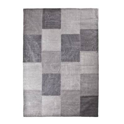 By-Boo Vloerkleed Patchwork Mono Antraciet 200x290