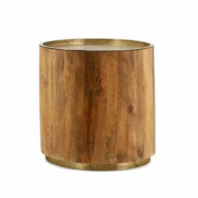 By-Boo Bijzettafel Tub Dark Copper