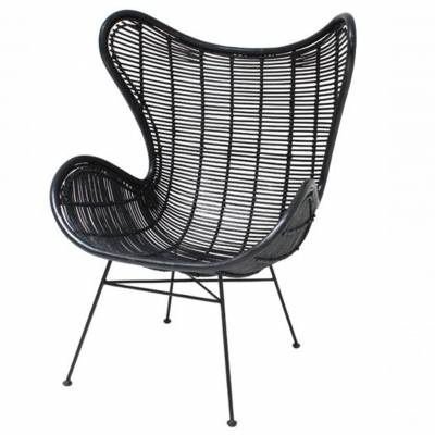 HK Living Rotan Egg Chair Zwart