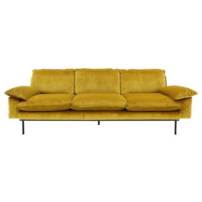 HKliving retro sofa 4-zits oker