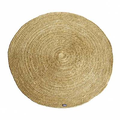 By-Boo Carpet Jute round - yellow