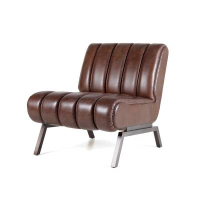 Fauteuil Shevy - donkerbruin java leder