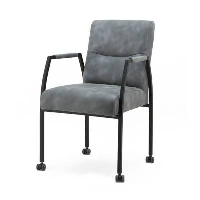 Chair Fiona with arm and wheels - anthracite Cherokee