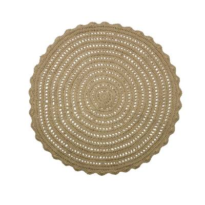 BePure Vloerkleed Corn Circle Crochet Naturel