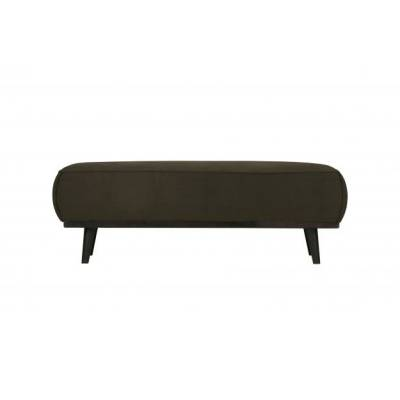 Statement hocker velvet warm groen