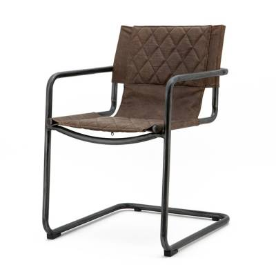 Chair Lester - dark brown vintage leather
