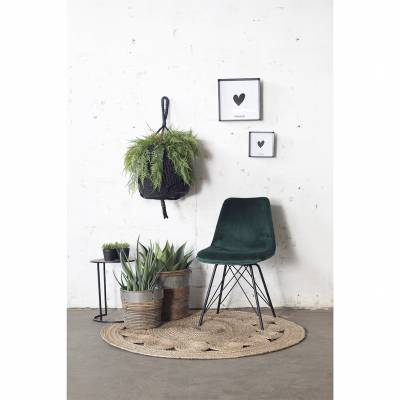Stoel Ivy Velvet Dark Green set van 2