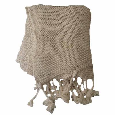 Woondeken Plaid Knitted Beige