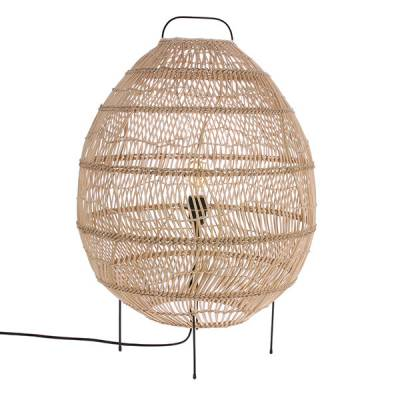Wicker Egg Shaped vloerlamp HKLiving