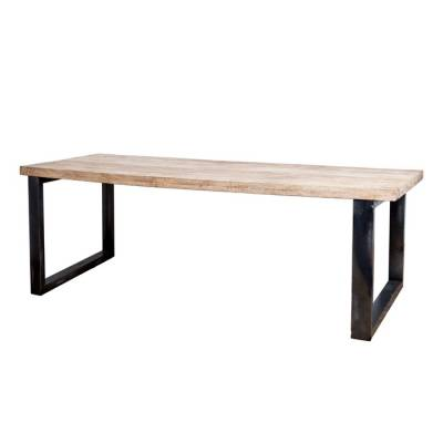 Solid dining table Mango with metal leg