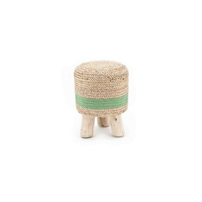 By-Boo Stool Jute Green 33x33