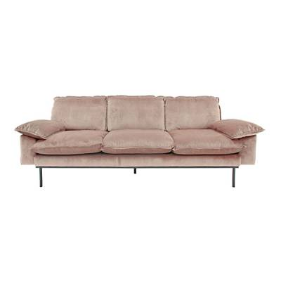 HKliving retro sofa 3-zits nude