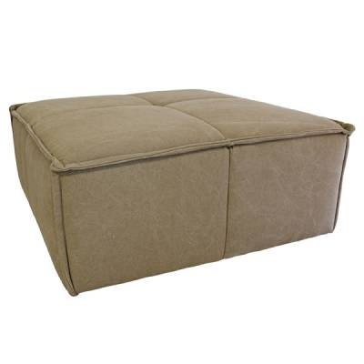 HK Living Hocker Canvas Khaki Bruin
