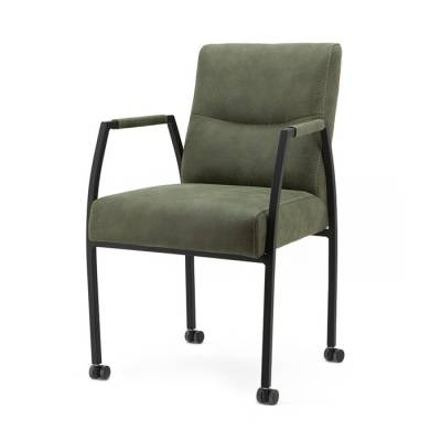 Chair Fiona with arm and wheels - green Cherokee