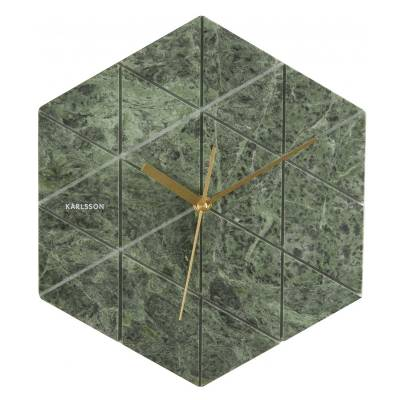 Karlsson Klok Marble Hexagon Green