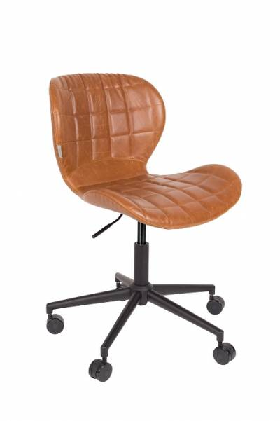 Zuiver Office Chair OMG LL Cognac