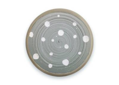Vt Wonen Ceramic plate big dots grey