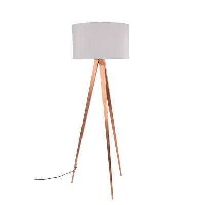 Zuiver Vloerlamp Tripod Copper Wit